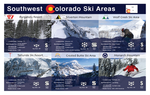 Southwest Colorado Ski Areas Infographic